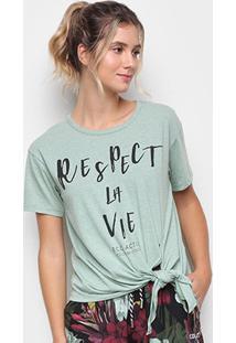 Camiseta Colcci Respect La Vie Feminina - Feminino