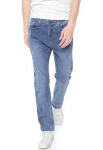 Calça Jeans Calvin Klein Jeans Slim Desgastes Azul