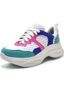 Tênis Chunky Shoes Flor Da Pele Branco