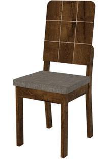 Cadeira Dama 2 Peças - Linho Bronze - Rústico Malbec