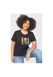 Camiseta Cantão Slim Offline Preta