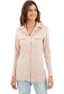 Camisa Le Lis Blanc Mel New Suede Blush Rosa Feminina (Blush, 44)