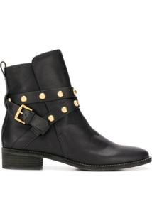 See By Chloé Ankle Boot 'Janis' De Couro - Preto