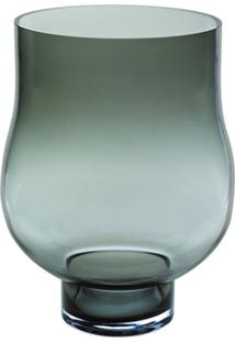 Vaso Bianco E Nero 47 X 32Cm Cinza - Kanui
