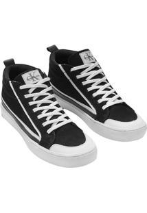 Tenis Ckj Couro Cano Alto Skate Sneaker - Preto - 39