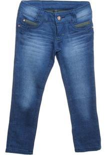 Calça Indigo Review Jeans - Feminino-Azul