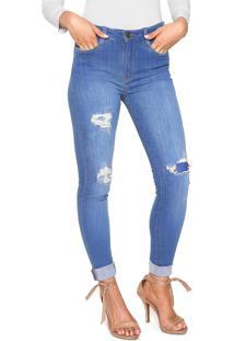 25e0307585 Calça Jeans Carmim Skinny Miley Azul