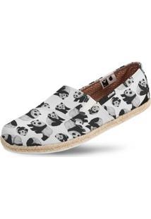 Alpargata Usthemp Corda Casual Vegano Panda Feminina - Feminino-Branco
