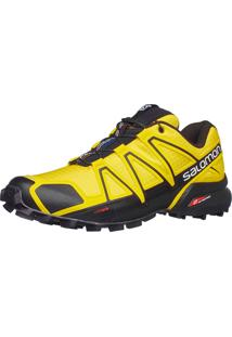 Tênis Salomon Masculino Speedcross 4 Amarelo/Preto 40