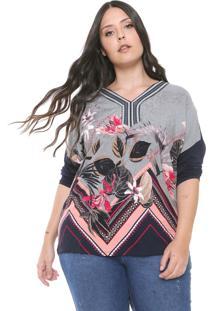 Blusa De Malha Plus Size Da Elabel Cinza