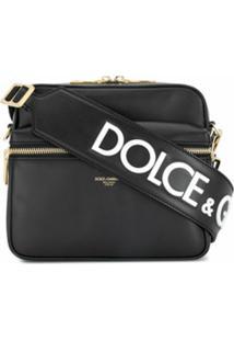 Dolce & Gabbana Bolsa Carteiro Com Logo - Preto