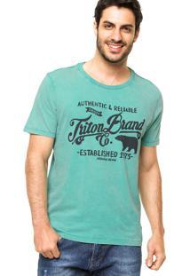 Camiseta Triton Logo 1975 Verde