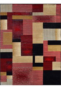 Tapete Retangular Veludo Marbella Illusione Artistic Preto 148X200 Cm