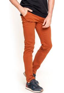 Calça Sarja Lemier Jeans Collection Slim Fit Ferrugem