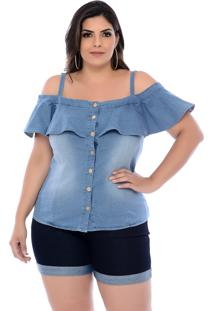 Blusa Jeans Alice Marileti Azul