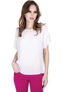 Blusa Básica Colcci Feminino - Feminino-Off White