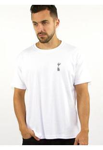 Camiseta Big Shirt Osklen Beach Moodboard Masculina - Masculino-Branco