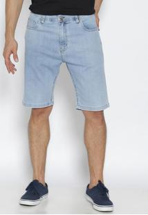 Bermuda Jeans Com Tag- Azul Claro- Leelee