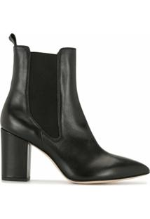 Paris Texas Ankle Boot Beatles Com Salto 80Mm - Preto