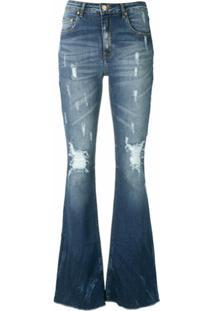 Amapô Calça Jeans Flare Maine - Azul