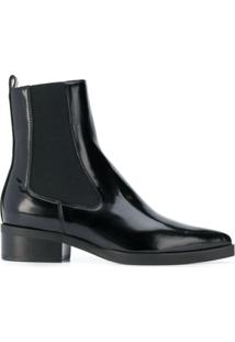 Stella Mccartney Ankle Boot Salto Baixo - Preto