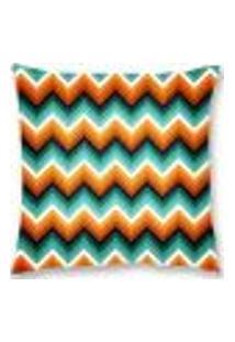Capa De Almofada Veludo Zigzag 45X45Cm Colorido Decoração
