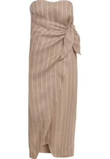 Vestido Linen Capri - Bege