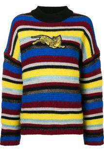 Farfetch. Suéter Listrado Feminino Amarelo Trico Poliamida Kj Trw Kenzo  Listras ... f25f2877909