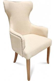 Cadeira Bergere Lisa Madeira Maciça Design Clássico