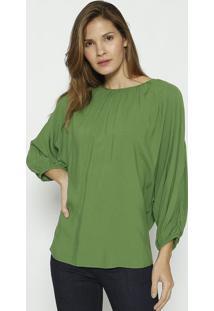 Blusa Com Vazado- Verde & Vermelha- Colccicolcci
