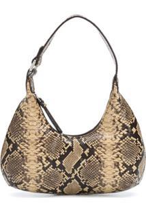 By Far Amber Snakeskin-Effect Shoulder Bag - Neutro