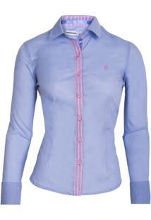 95.028 Camisa Social Feminina Modelo F - Feminino