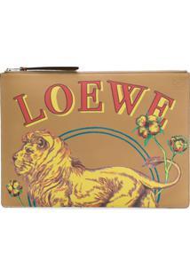 Loewe Clutch Com Estampa - Neutro