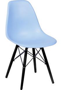 Cadeira Com Base Preta 1102-Or Design - Azul Claro