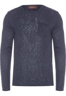Blusa Masculina Tricot Pull - Azul