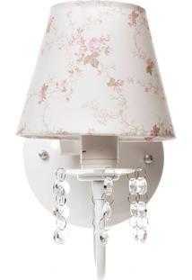 Arandela 1 Lâmpada Cristais Quarto Bebê Infantil Potinho De Mel Rosa - Kanui