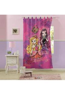 Cortina Infantil Com Alça Ever After High 1,50X1,80M 80% Algodão 20% Poliéster Lepper