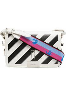 Off-White Bolsa Mini Com Aba - Branco