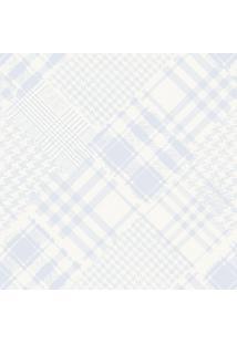 Papel De Parede Lymdecor Coleção Infantário Pied-Poule 1714 Bobinex Azul