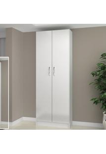 Armário Multiuso 2 Portas E 4 Prateleiras Milão Evidência Móveis Branco