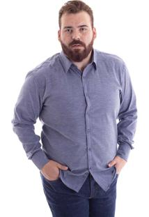 Camisa Comfort Plus Size Cinza 1486-32 - Gg