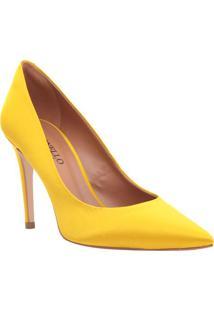 Scarpin Envernizado - Amarelo - Salto: 9,5Cmcecconello