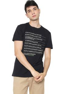 Camiseta Osklen Pet Manifesto Preta
