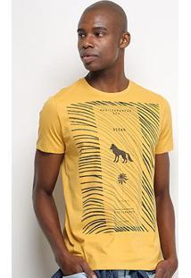 Camiseta T-Shirt Acostamento Ocean Masculina - Masculino-Amarelo