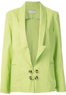 Olympiah Blazer Bryone Com Decote Profundo - Verde