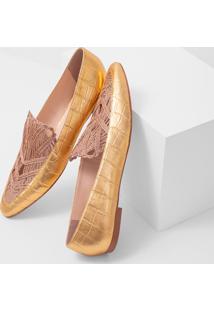 Sapato+Faccine+Scarpin+Ouro