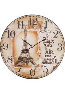 Relógio De Parede Vintage Paris France Kasa Ideia - Tricae