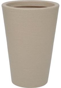 Vaso Em Polietileno Cone Terra 38X55Cm Areia
