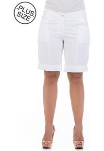Bermuda Talento Bolsos Branca