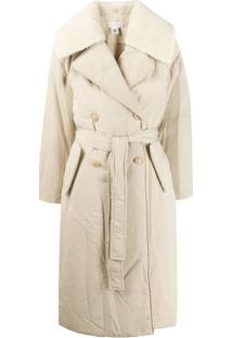 Low Classic Padded Trench Coat - Neutro